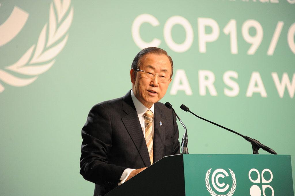 Ban ki Moon COP19
